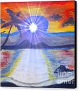 Skittel Sky Canvas Print