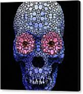 Skull Art - Day Of The Dead 1 Stone Rock'd Canvas Print