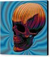 Skull Aura Orange Canvas Print by Jason Saunders