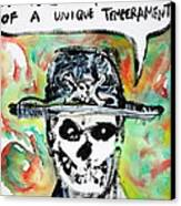 Skull Quoting Oscar Wilde.1 Canvas Print
