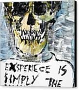Skull Quoting Oscar Wilde.4 Canvas Print