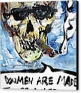 Skull Quoting Oscar Wilde.6 Canvas Print