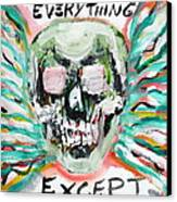 Skull Quoting Oscar Wilde.7 Canvas Print