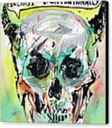 Skull Quoting Oscar Wilde.8 Canvas Print by Fabrizio Cassetta