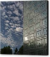 Sky And Building Canvas Print by Gary Eason