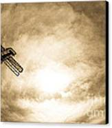 Sky Fall Canvas Print by Fatemeh Azadbakht