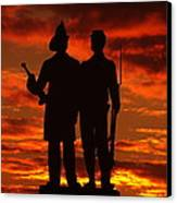 Sky Fire - 73rd Ny Infantry Fourth Excelsior Second Fire Zouaves-a1 Sunrise Autumn Gettysburg Canvas Print