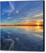 Sky Reflection In Boundary Bay Canvas Print