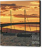 Skye Bridge Sunset Canvas Print by Chris Thaxter