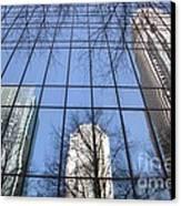 Skyscraper Reflections - Charlotte Nc Canvas Print by Shelia Kempf