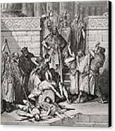 Slaughter Of The Sons Of Zedekiah Before Their Father Canvas Print