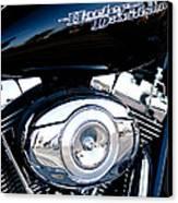 Sleek Black Harley Canvas Print by David Patterson