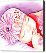 Sleeping Baby Canvas Print by Irina Sztukowski