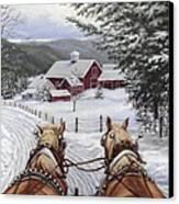 Sleigh Bells Canvas Print by Richard De Wolfe