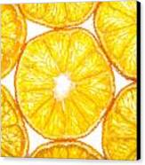 Slices Orange. Canvas Print by Slavica Koceva