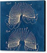 Slinky Toy Blueprint Canvas Print
