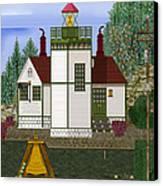 Slip Point Lighthouse Vintage Canvas Print