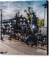 Small Boy Waiting For Steam Engine Canvas Print by Janice Sakry