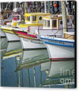 Small Fishing Boats Of San Francisco  Canvas Print