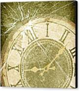 Smashed Clock Face Canvas Print