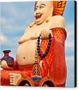 smiling Buddha Canvas Print by Adrian Evans