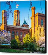 Smithsonian Castle Canvas Print by Inge Johnsson