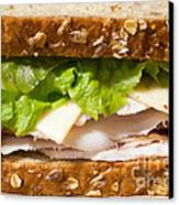 Smoked Turkey Sandwich Canvas Print by Edward Fielding