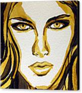 Smokey Eyes Woman Portrait Canvas Print by Patricia Awapara