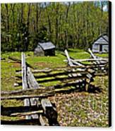 Smoky Mountain Cabins Canvas Print by Paul W Faust -  Impressions of Light