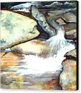 Smoky Mountains Waterfall Canvas Print by Patricia Griffin Brett