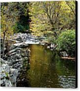 Smoky Mountian River Canvas Print by Sandy Keeton