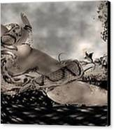Snake Canvas Print by Theda Tammas