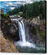 Snoqualmie Falls Canvas Print by Chris Heitstuman