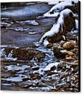 Snow And Ice Water And Rock Canvas Print by Dale Kincaid