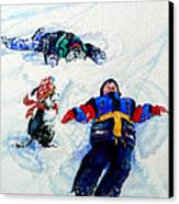 Snow Angels Canvas Print by Hanne Lore Koehler