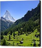 Snow-capped Matterhorn Canvas Print