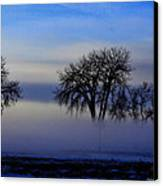 Snow Fog Canvas Print by Rebecca Adams