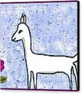 Snow Lamb Canvas Print by Meenal C