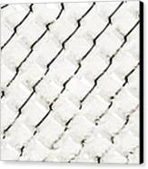 Snow Link Fence Canvas Print by Andee Design
