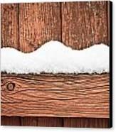 Snow On Fence Canvas Print by Tom Gowanlock