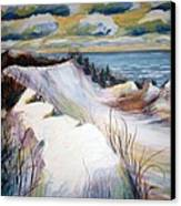 Snow On The Dunes Canvas Print
