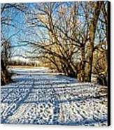 Snow Road Canvas Print by Baywest Imaging