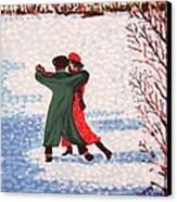Snow Tango Canvas Print