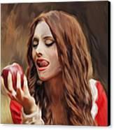 Snow White Canvas Print by Hazel Billingsley