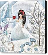 Snow White Canvas Print by Mo T