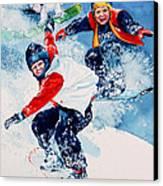Snowboard Super Heroes Canvas Print by Hanne Lore Koehler