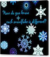 Snowflakes 2 Canvas Print