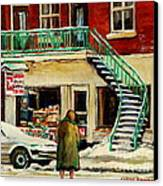 Snowing At The Five And Dime Canvas Print
