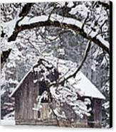 Snowy Barn 2 Canvas Print