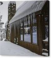 Snowy House Canvas Print by Tom Wilbert